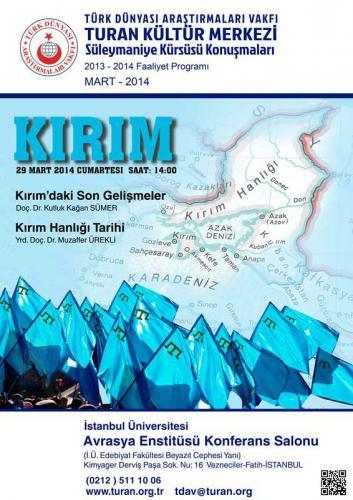 MART-2014Turan Kültür Merkezi - Kırım Hanlığı Tarihi - Kırımdaki Son Gelişmeler-kirim mini